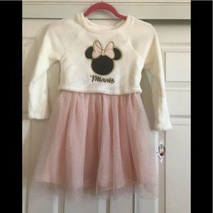 Girls Minnie Mouse sheer dress